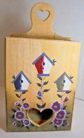 Beautiful Hand-painted Wooden Birdhouse with Flowers Garden Bird House Decor
