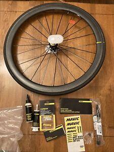 NEW Mavic Cosmic Pro Carbon SL UST Rear Wheel w Tire & Accessories 700 x 25C