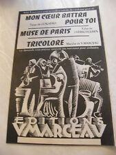 Partition Mon coeur battra pour toi Muse de Paris Tricolore Marceau Verschueren