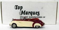 Top Marques 1/43 Scale HE4 - 1954 Alvis TC 21/100 Grey Lady Open - Maroon/Cream