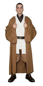 Star Wars Obi Wan Kenobi Costume Light Brown Jedi Robe Film Set Quality
