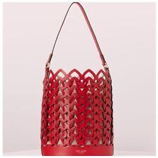 HTF Kate Spade Dorie Hot Chili Medium Bucket Shoulder Bag Handbag Purse