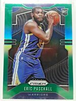 2019-20 Panini Prizm Eric Paschall Green Hologram Rookie RC Golden State Mint