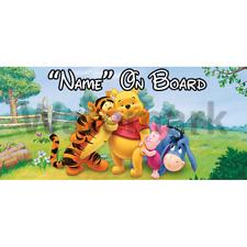 Winnie l'ourson personnalisé bébé à bord voiture signe (5)