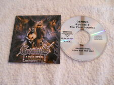 """Genius """"A Rock Opera By Daniele Liverani"""" 2007 cd Frontiers Rec. Promotional NEW"""
