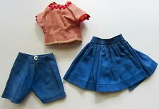 SHIRLEY TEMPLE 1958 SEARS 3 PC. BLUE SKIRT RED STRIPE TOP SHORTS FOR ST-12 DOLL