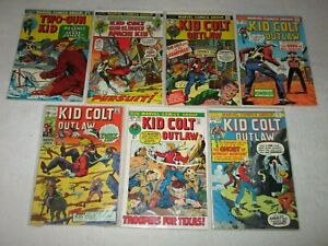 KID COLT OUTLAW BRONZE AGE LOT + TWO-GUN KID MARVEL