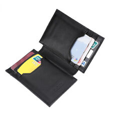 Mens Genuine Leather Money Clip Wallet Bifold Card Case Front Pocket Card Holder