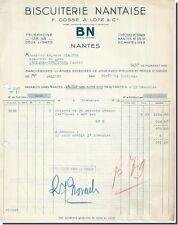 P-Cossé, A-LOTZ & Cie Biscuiterie Nantaise BN à Nantes 1938