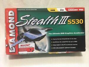 Diamond stealth III S530 8MB PCI Graphics Card, Open Box, See Discription