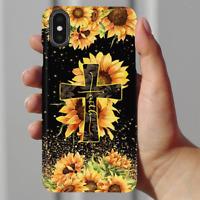 Faith Sunflower Cross Christian Gifts Phone Case Iphone 11 Pro X Xr Xs Max 8 7