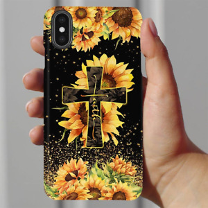 Faith Sunflower Cross Christian Gifts Phone Case Iphone 11 Pro X Xr Xs Max 8 7