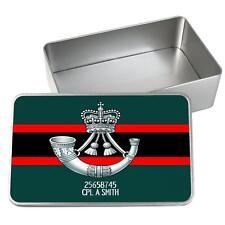 Personalised The Rifles Tin Storage Keepsake Memory Box Army Gift MT72
