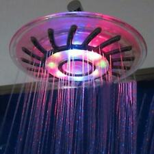 """8"""" Bathroom 7 Colors Automatic LED Light Changing Round Top Shower Head Bath"""