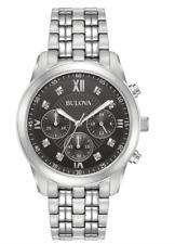 $475 Bulova Men's Diamond Accent Chronograph Watch 96D136