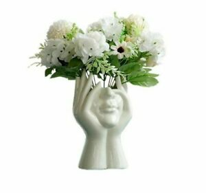 Flower Vase Ceramic Human Face Creative Portrait Vase Home Decoration Sculpture