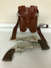Wild West Vintage Cap Gun Lot Plastic Holster Cowboy Toy Buckle Diecast Metal