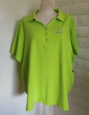 NEW Suprema Catherines 3X Bright Green Henley Style Knit Tunic Top Plus Size