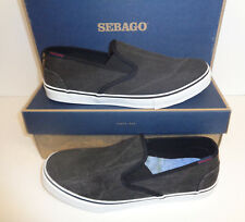 Sebago Mens Black Slip On New Casual Trainers Shoes New RRP £70 UK Sizes 6.5-8