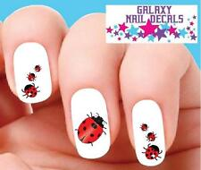 Waterslide Ladybug Nail Decals - Set of 20 Ladybugs Assorted