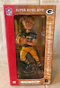 Forever Collectibles Bart Starr Packers Super Bowl MVP Bobblehead NEW NIB *rare*