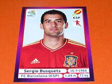 295 SERGIO BUSQUETS BARCELONA ESPAGNE ESPAÑA  FOOTBALL PANINI UEFA EURO 2012
