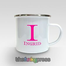 Tu nombre en una taza de esmalte taza de café de Diversión Regalo Personalizado