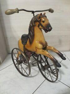 +++Altes Dreirad Pferd - Pferd auf Dreirad aus Holz und Metall+++