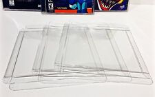 5 Box Protectors For Playstation 1 Ps1 Video Games. Custom Clear Display Cases