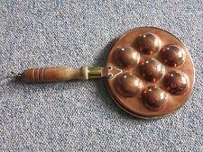 alte Pfanne für Poffertjes Krapfen Pförtchen - Kupfer Pförtchenpfanne