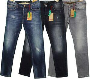 Jeans Hose Designer Herren Neu Denim Five Pocket Stretch 32 34 36 Slim Regular