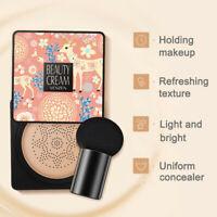 Air Cushion BB Cream Waterproof Brighten Concealer Foundation+Mushroom Sponge A+