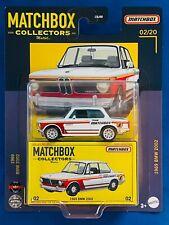 1969 BMW 2002 NEW 2021 MATCHBOX Collectors MATTEL 02/20 UNOPENED Model Toy Car