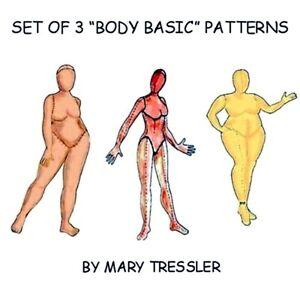 *NEW* Set of 3 Body Basic Cloth Doll Patterns By Mary Tressler