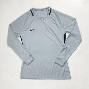 Nike Long Sleeve Park III Soccer Training Jersey Women's Medium Grey 894515-012