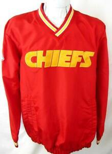 Kansas City Chiefs Men L or 2XL Embroidered Pullover Windbreaker Jacket AKAC 246