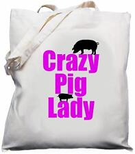 Crazy PIG Lady-naturale (crema) Cotone Borsa A Tracolla