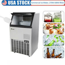 Stainless Steel Commercial Ice Maker Built-In Under Counter Freestand 99 Lb/24Hr