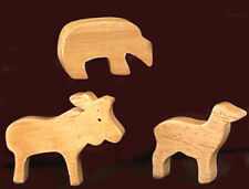 Set of Four Pottery Barn Kids Wooden Animal Drawer Knobs New in Box
