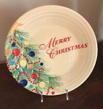 NEW FIESTAWARE MERRY CHRISTMAS TREES LUNCHEON PLATE FIESTA