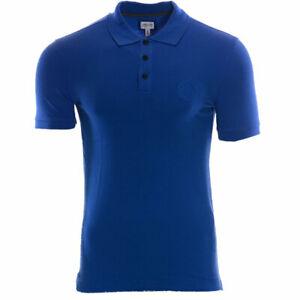 EMPORIO ARMANI Mens Polo Shirt Short Sleeve Summer Cotton Golf Casual Blue Tee