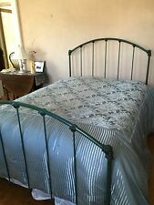 Wrought Iron Frame Metal Platform Bed Forest Green~Full Size