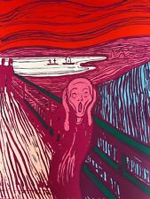 "ANDY WARHOL ""MUNCH THE SCREAM"" Limited Ed SUNDAY B.MORNING Silkscreen Print COA"