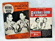 Baseball Digest Oct 1949 and Baseball Guide 1948 Radio Edition Harry Caray