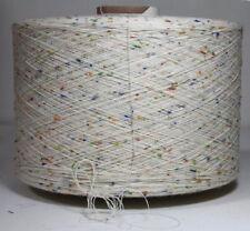 Noppengarn Wolle Garn Effektgarn Weiß Stricken Kone 1,45 kg  Baumwolle   /80