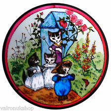 STAINED GLASS WINDOW ART STATIC CLING BEATRIX POTTER - TOM KITTEN