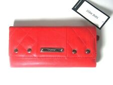 Nine West Womens Trifold Clutch Wallet Split Quilt SLG RIO RED New With Tag $39