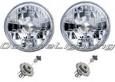 "7"" 24V Halogen Military Headlight Headlamp H4 Bulbs Crystal Clear 24 Volt Pair"