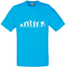 Evolution of Cycling, Bike Sports inspired Men's Printed T-Shirt Cool T Shirts