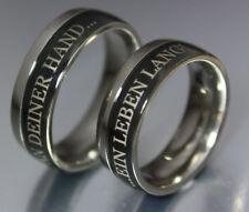 2 anillos de Bodas Compromiso Titanio Con Grabado Láser exterior